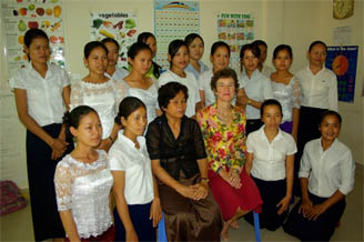 HAP Cohort 2 with Counsellor and Khmer Teacher Pring Noeun and English teacher 